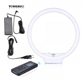 Kit Lampara Yongnuo Ring light YN608 Bicolor con Adaptador de Corriente