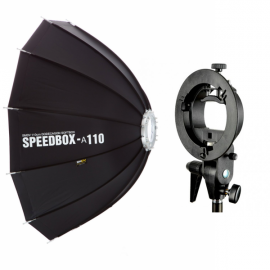 Kit Softbox SMDV 110cm con S-type S2 para speedlight