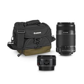 Kit 2 lentes Canon EF55-250mm IS II y 50mm f/1.8 STM con Estuche